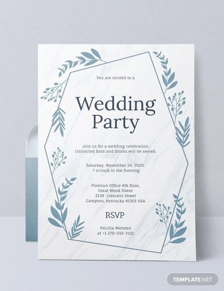 Free 16 Wedding Party Invitation Designs Examples In Word