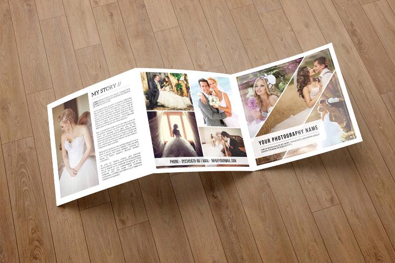 wedding photography brochure template