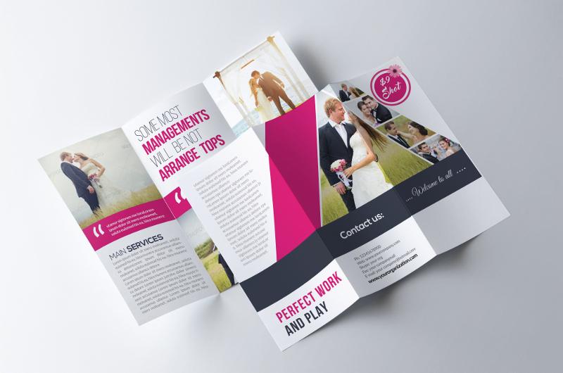 wedding program trifold brochure