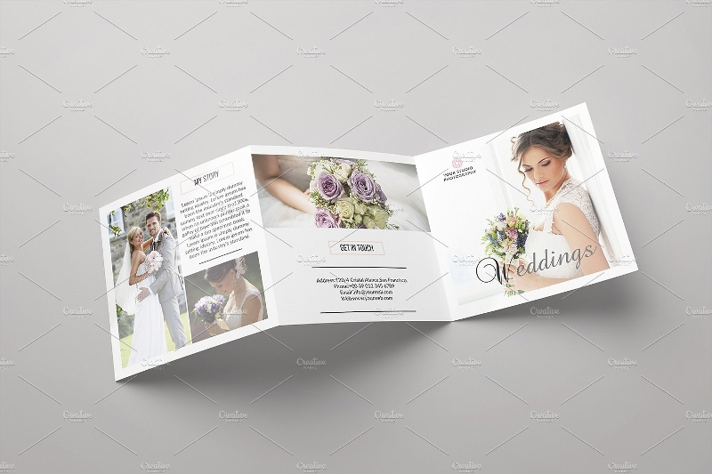 wedding trifold photography brochure