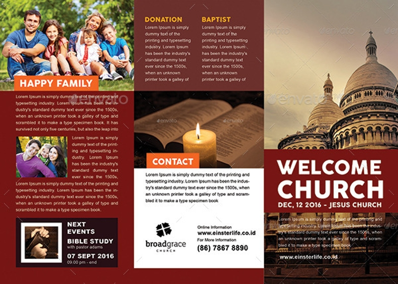 welcome church trifold brochure