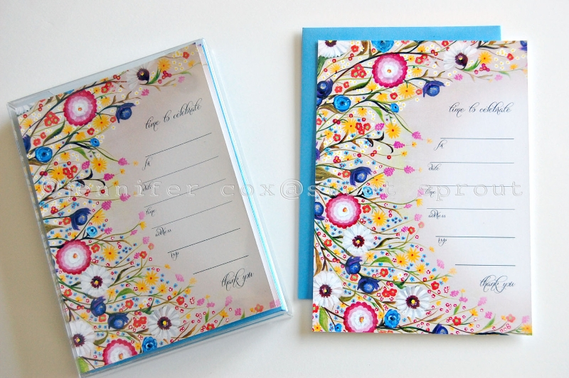 wild flowers blank invitation