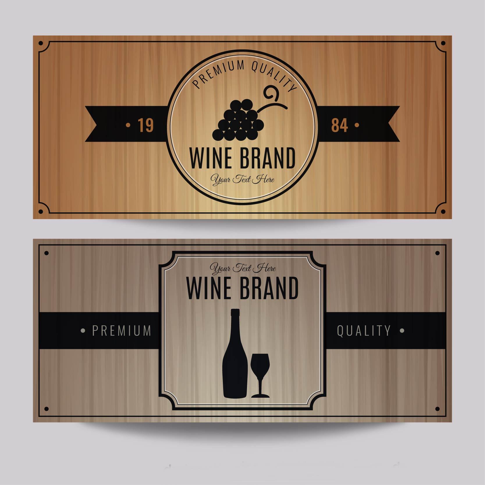 wine brand banner