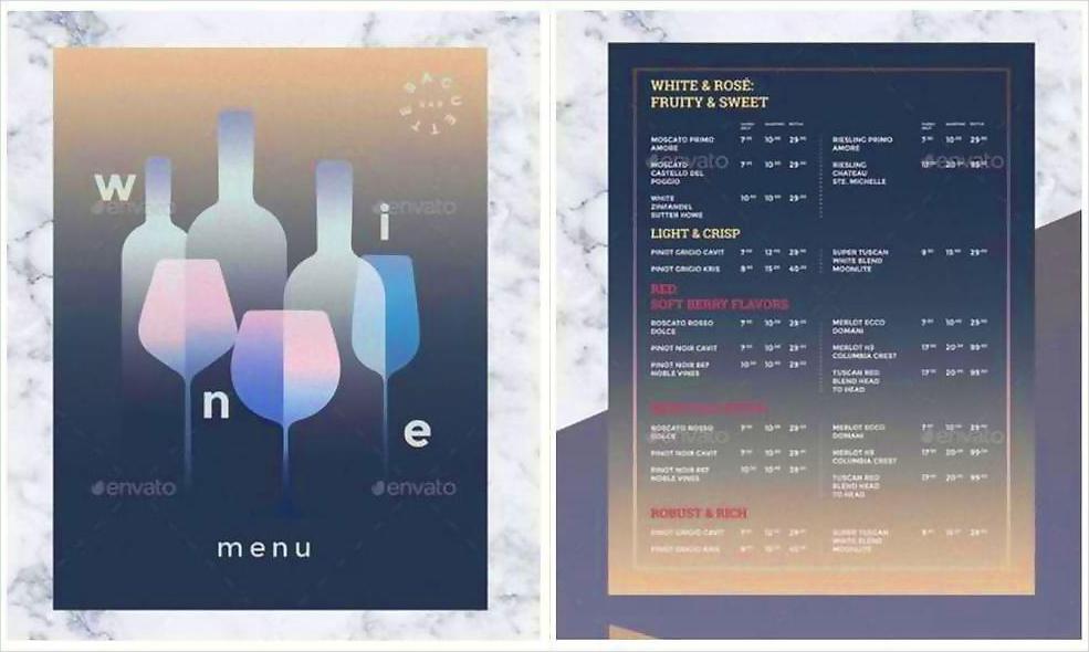 wine drinks menu1