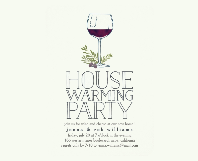 wine glass housewarming party invitation1