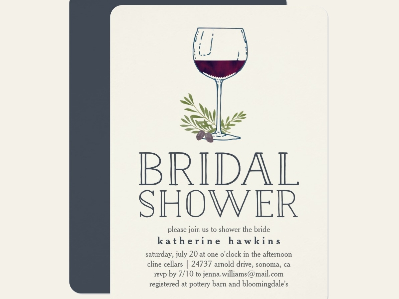 wine tasting bridal shower invitation1