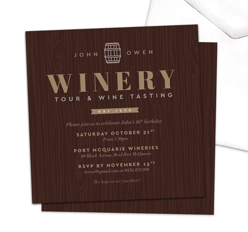wine tasting party invitation