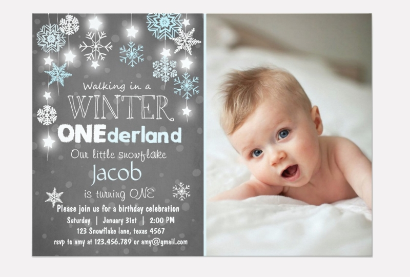 winter birthday invitation