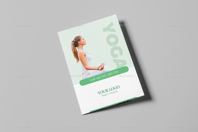 yoga bi fold brochure
