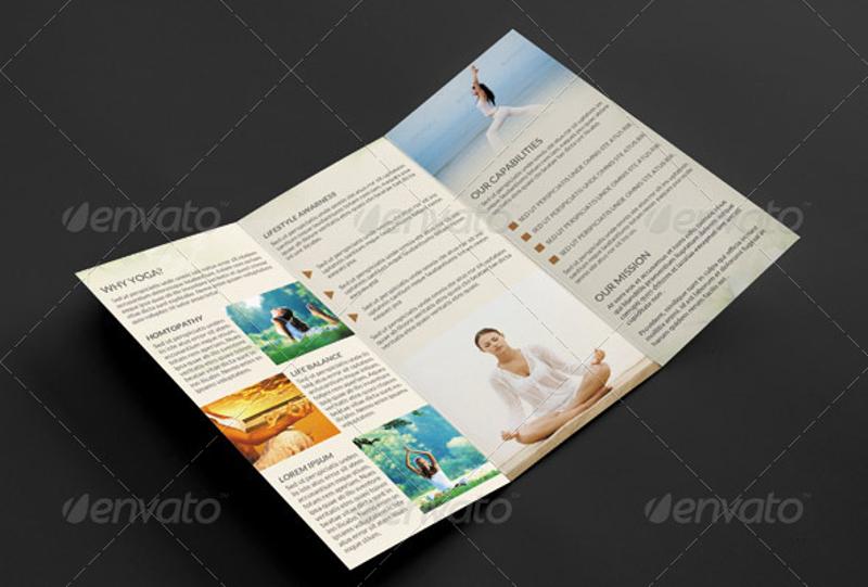 yoga center trifold brochure