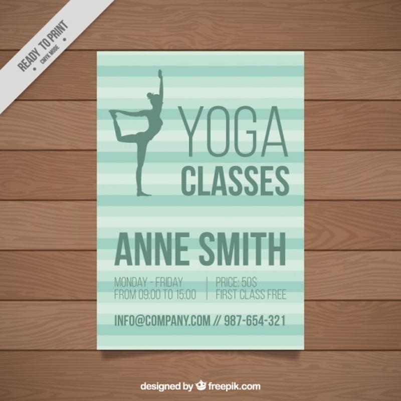 yoga classes brochure