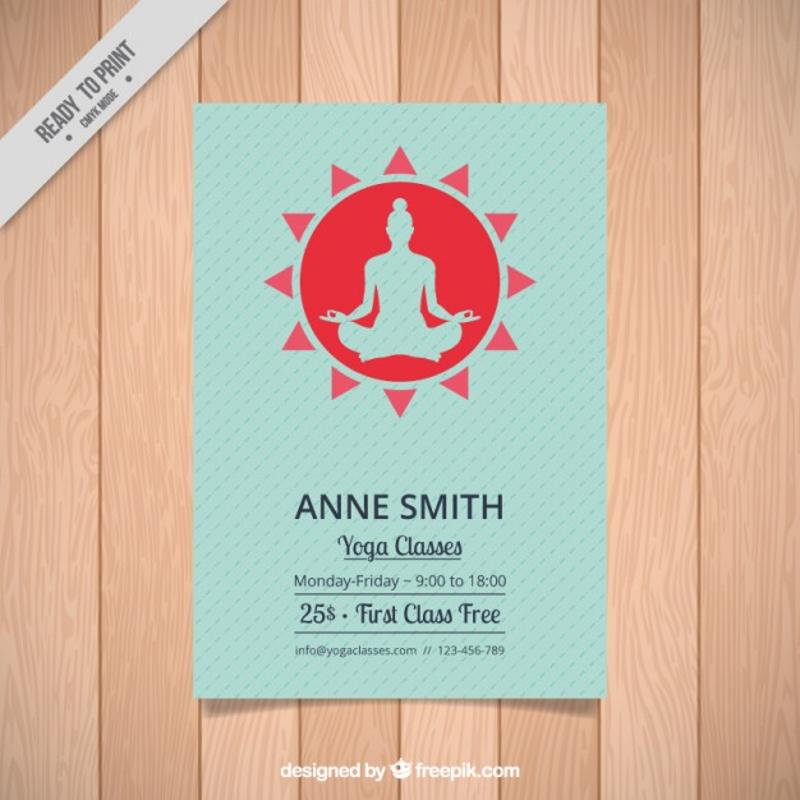yoga silhouette brochure