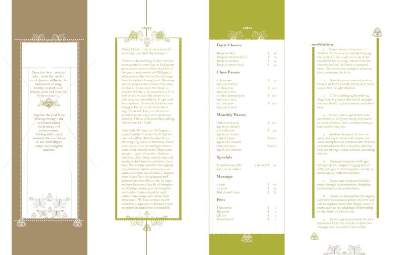 yoga tree brochure