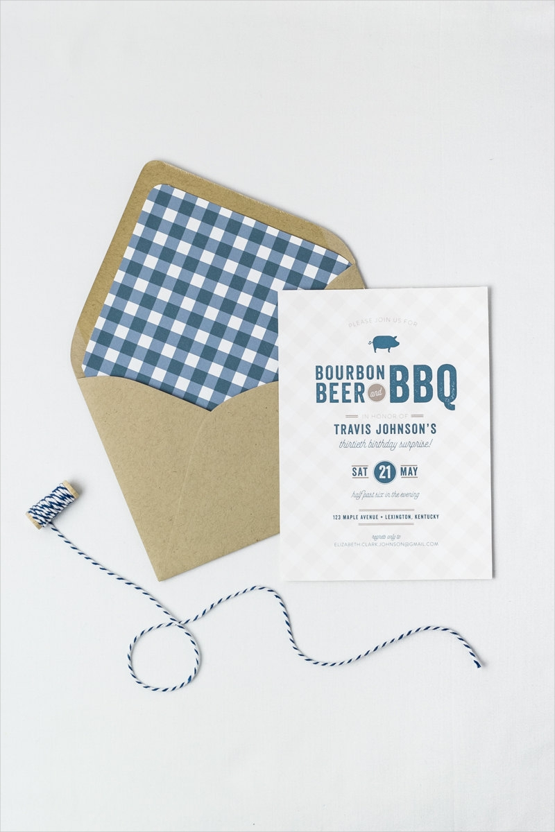 bbq birthday dinner invitaion