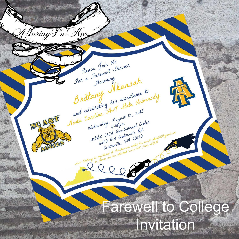 college farewell party invitation