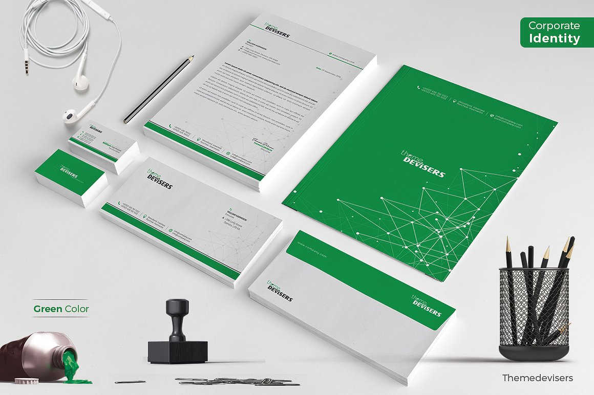 corporate identity green color