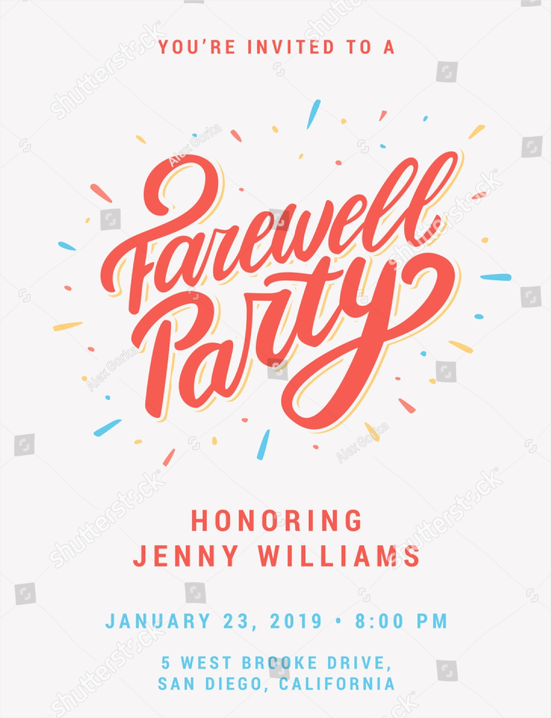 event farewell party invitation