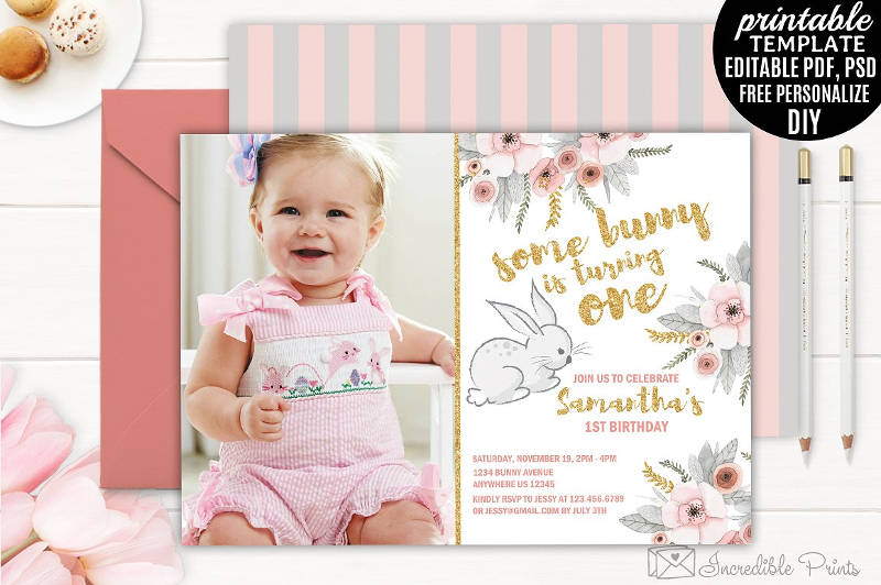 girl first birthday invitation1