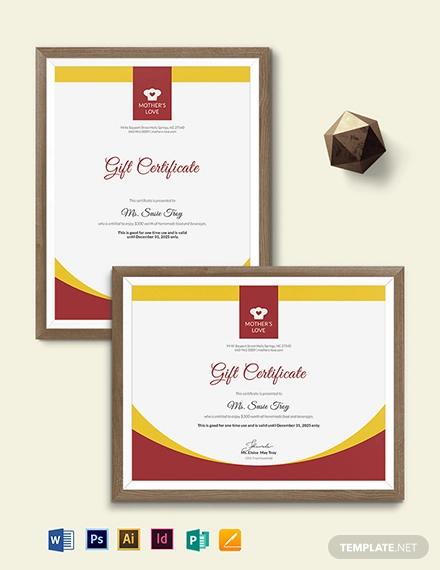 homemade gift certificate