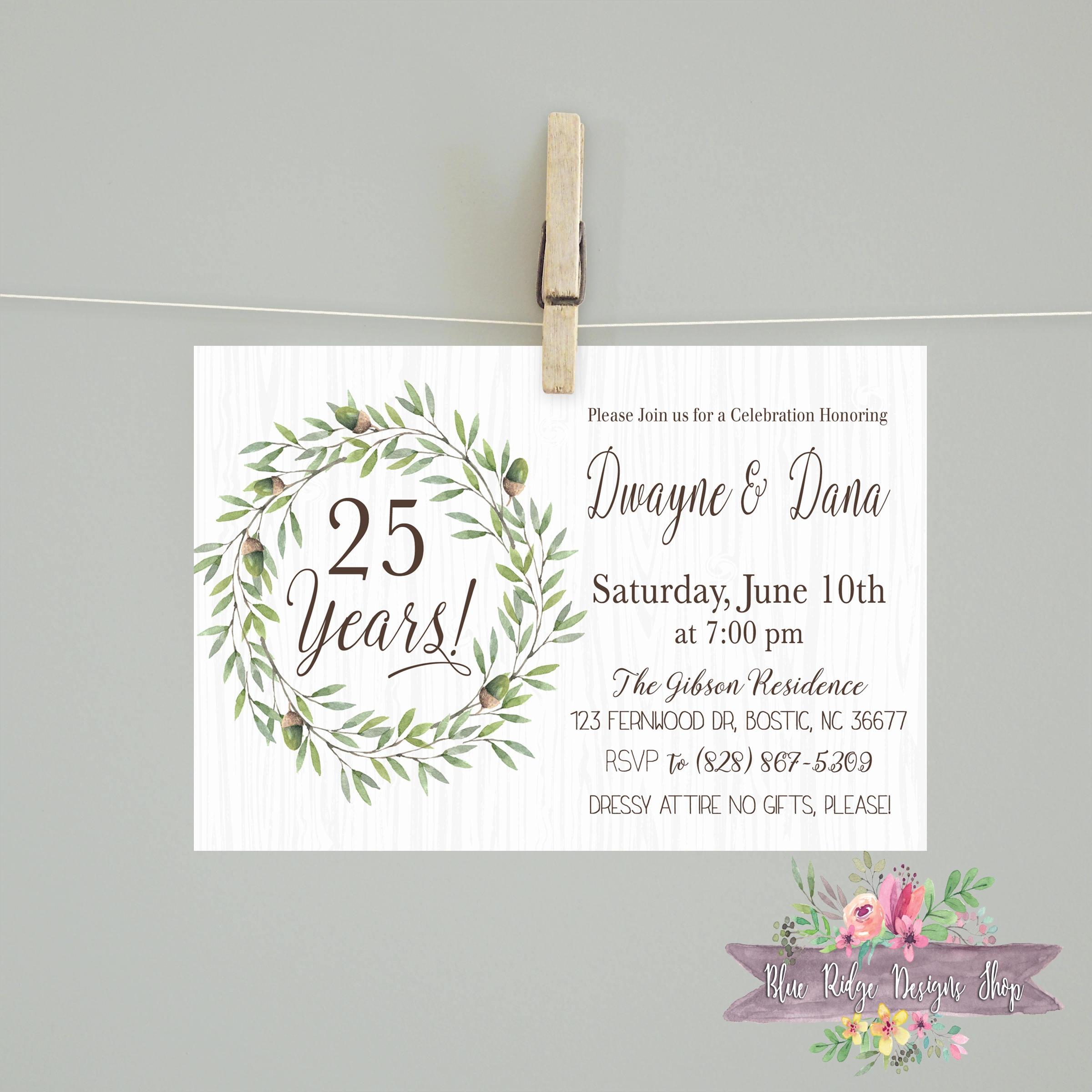 lassic anniversary party invitation