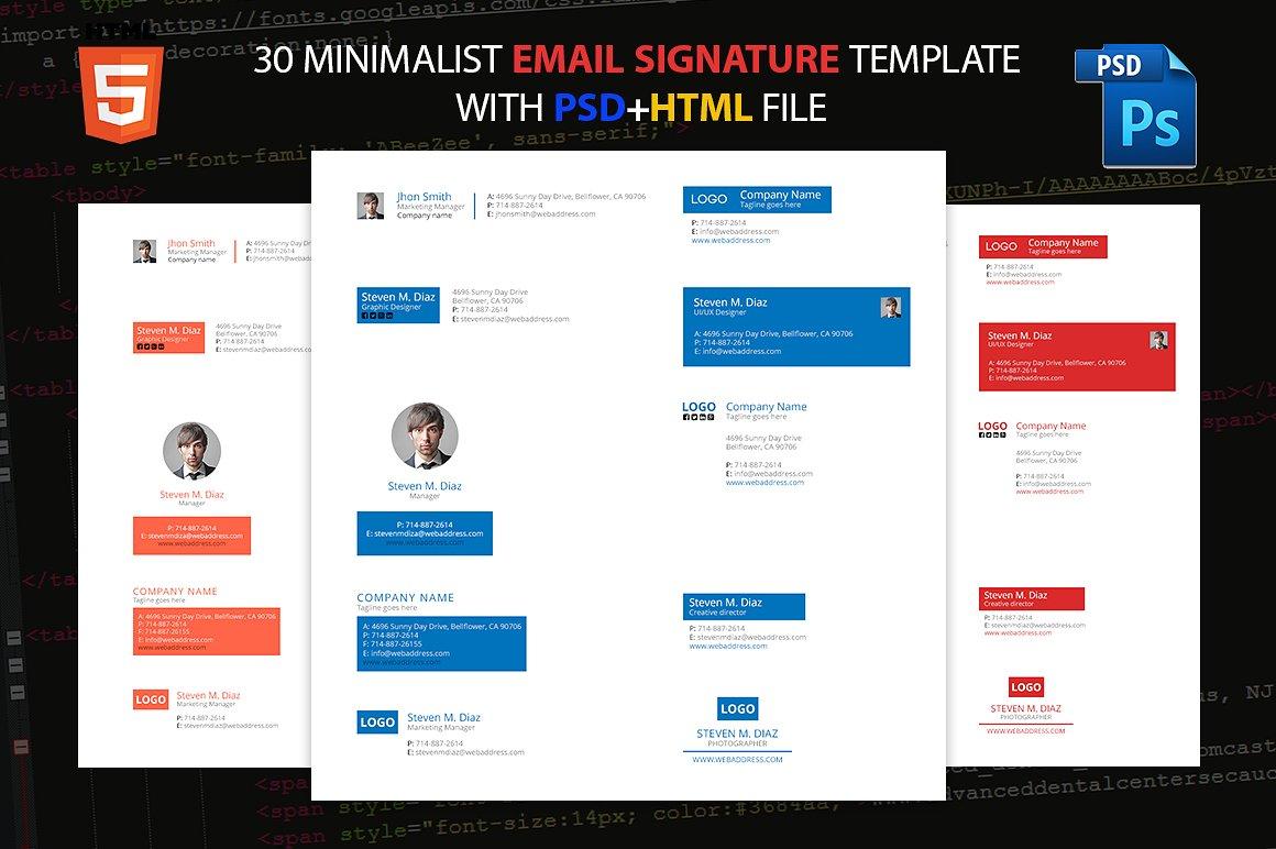 minimalist email signature template111