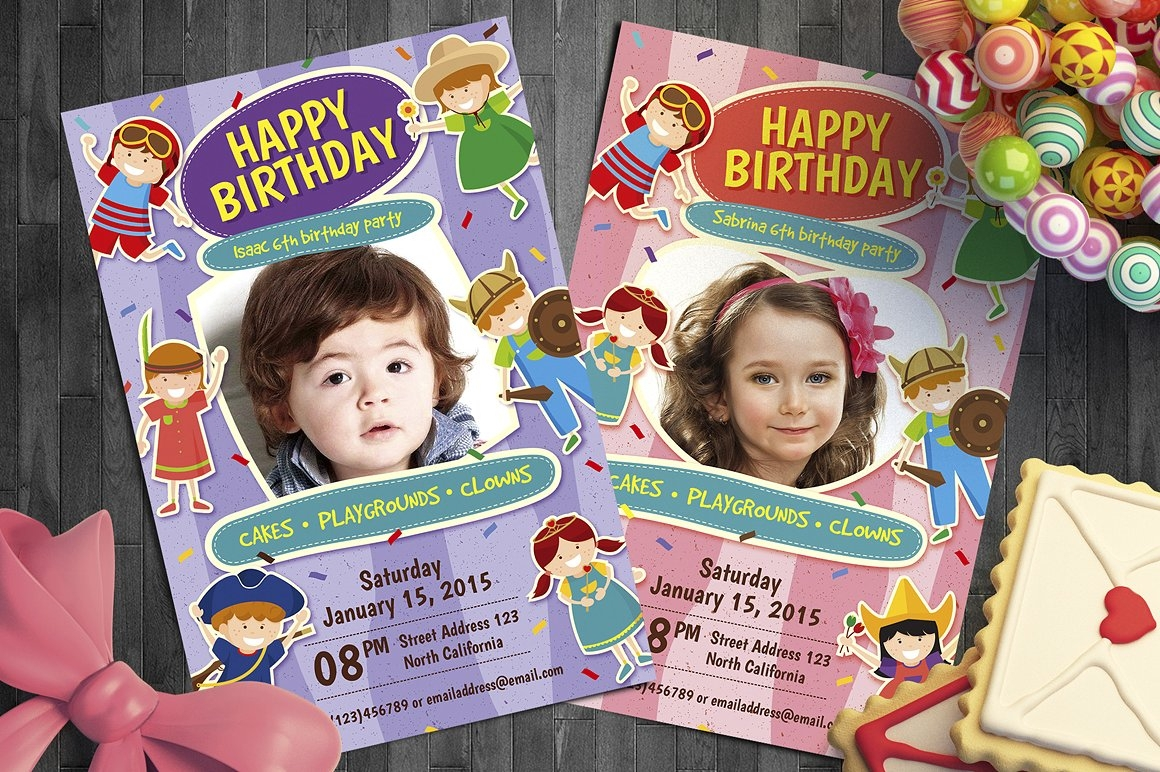 modern children birthday