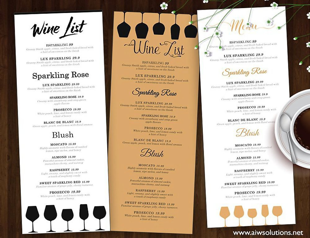 10 wine menu designs examples psd ai vector eps