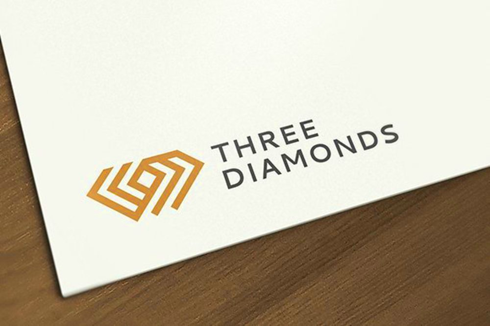 trhee triple diamond diamonds jewel jewelry logo 04