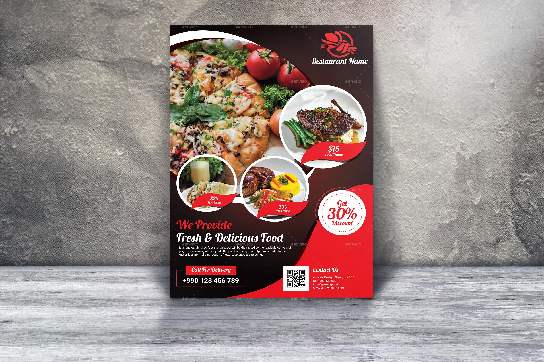 Restaurant flyer designs examples psd ai vector eps