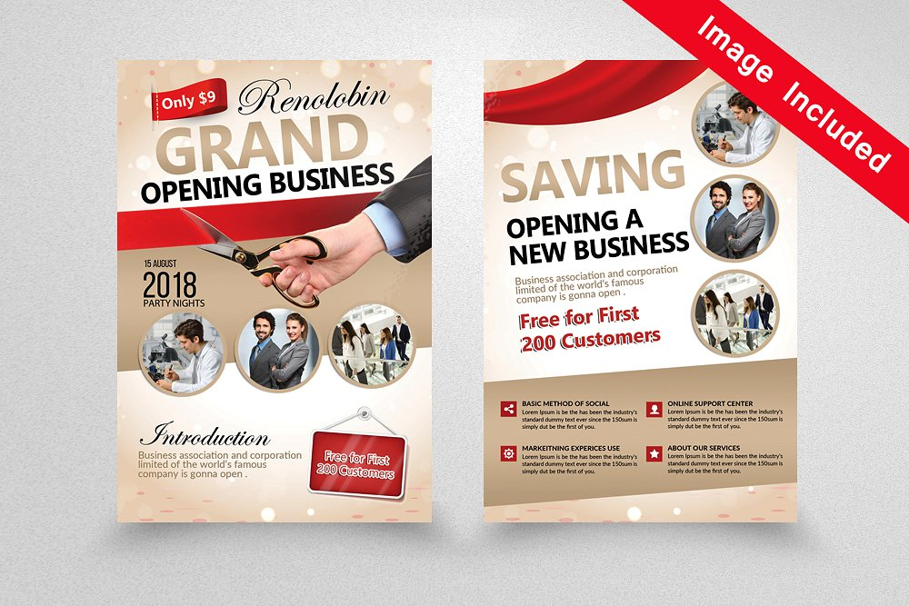 10 grand opening flyer templates psd docs ai pages