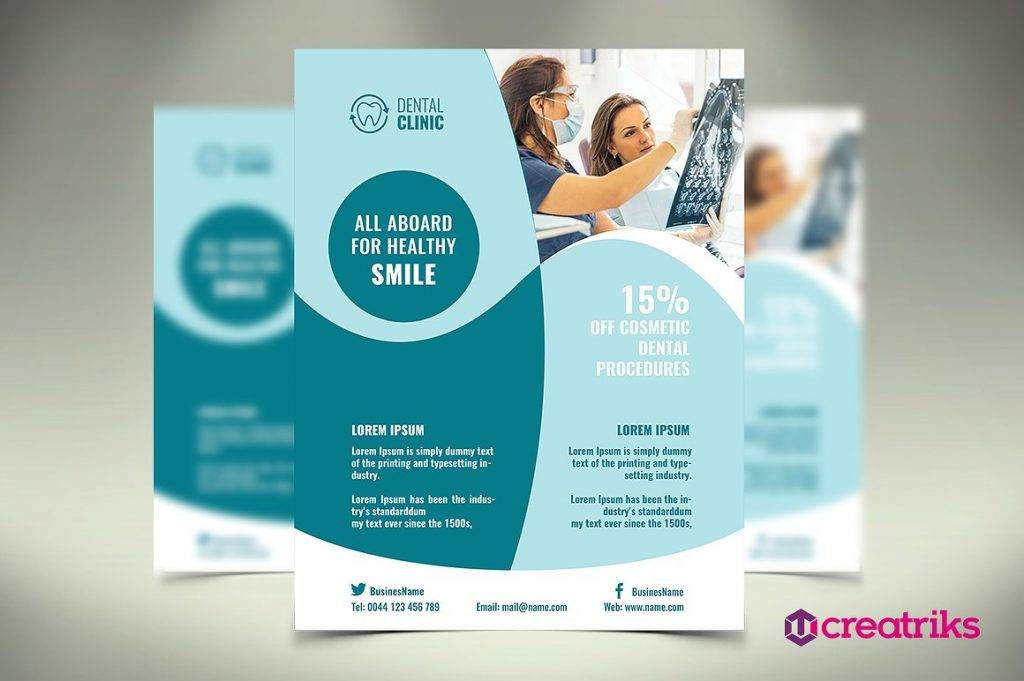 14  dental flyer designs  u0026 examples