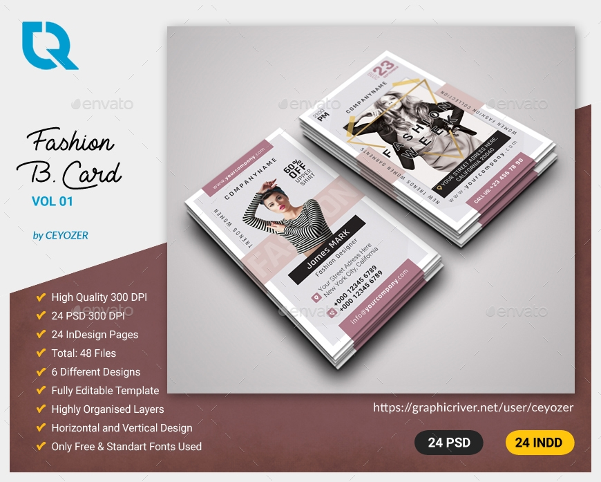 15+ Fashion Business Card Designs & Examples - PSD, AI, Vector EPS