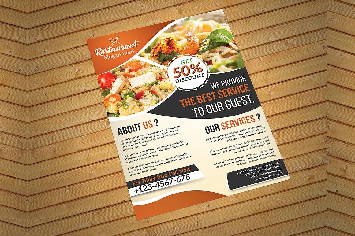 19  restaurant flyer designs