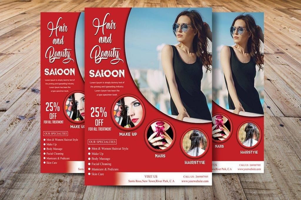 Free 20 Examples Of Beauty Salon Flyers In Publisher Word Photoshop Illustrator Indesign Pages Examples