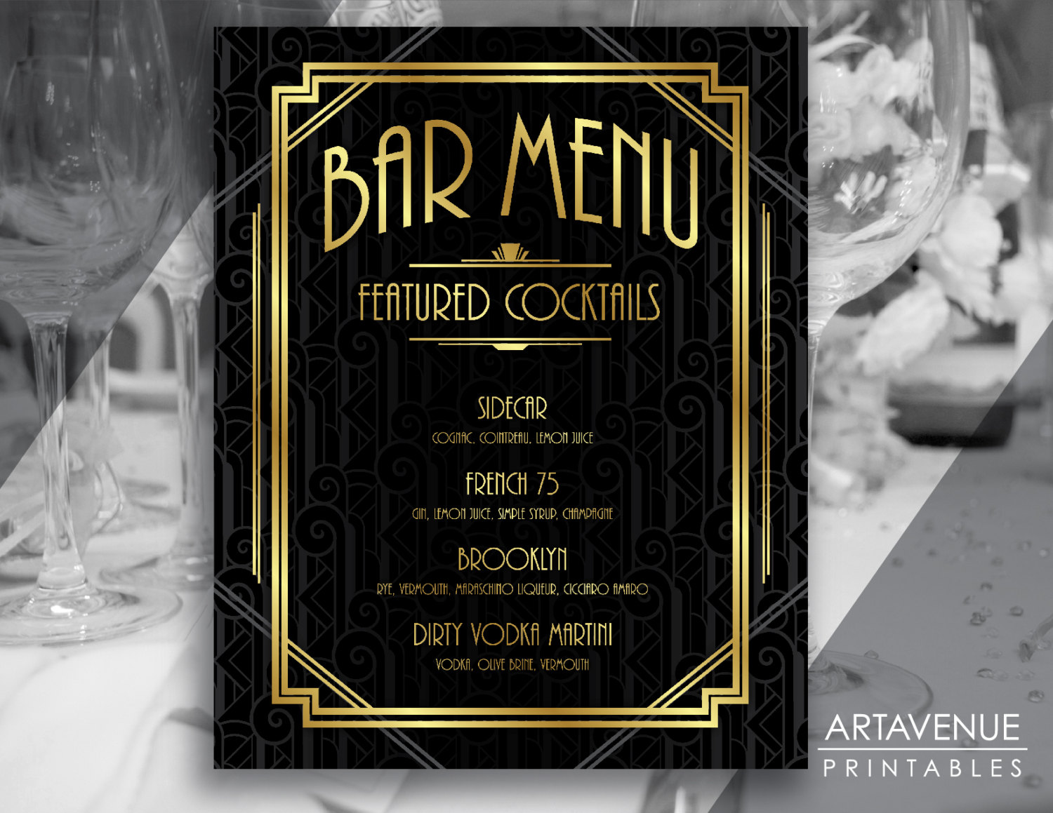 Free 16 Examples Of Art Deco Menu In Psd Ai Eps