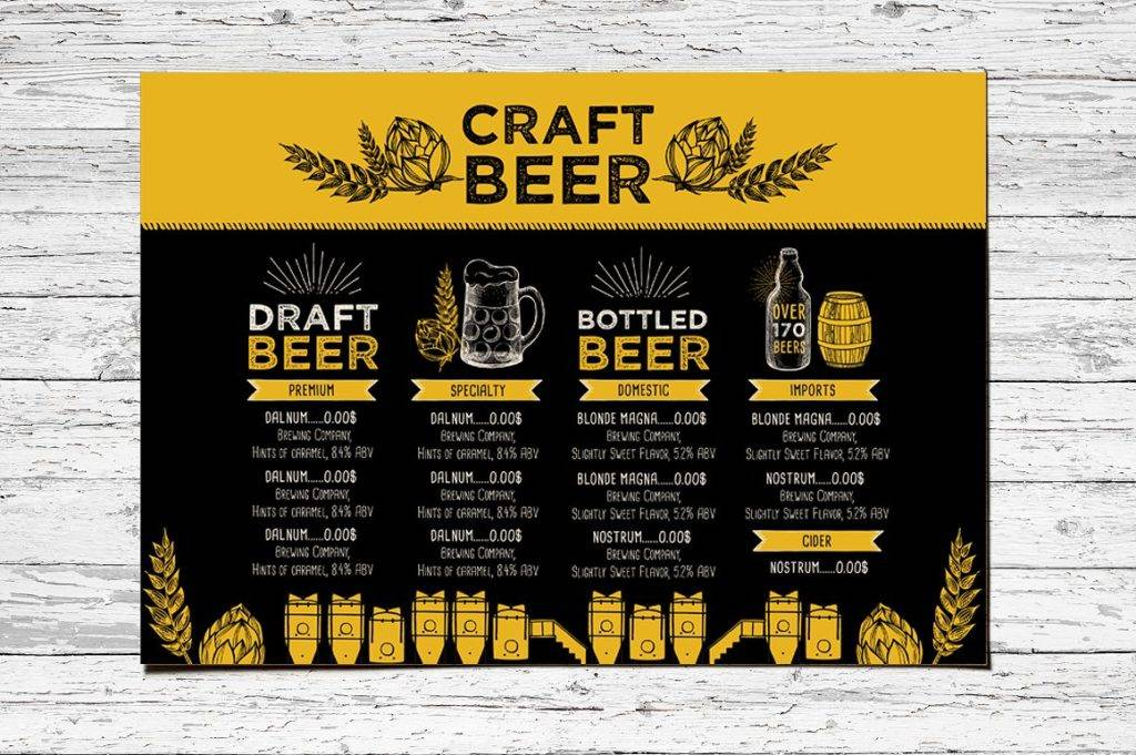 16 Beer Menu Designs Examples Psd Ai Vector Eps Examples