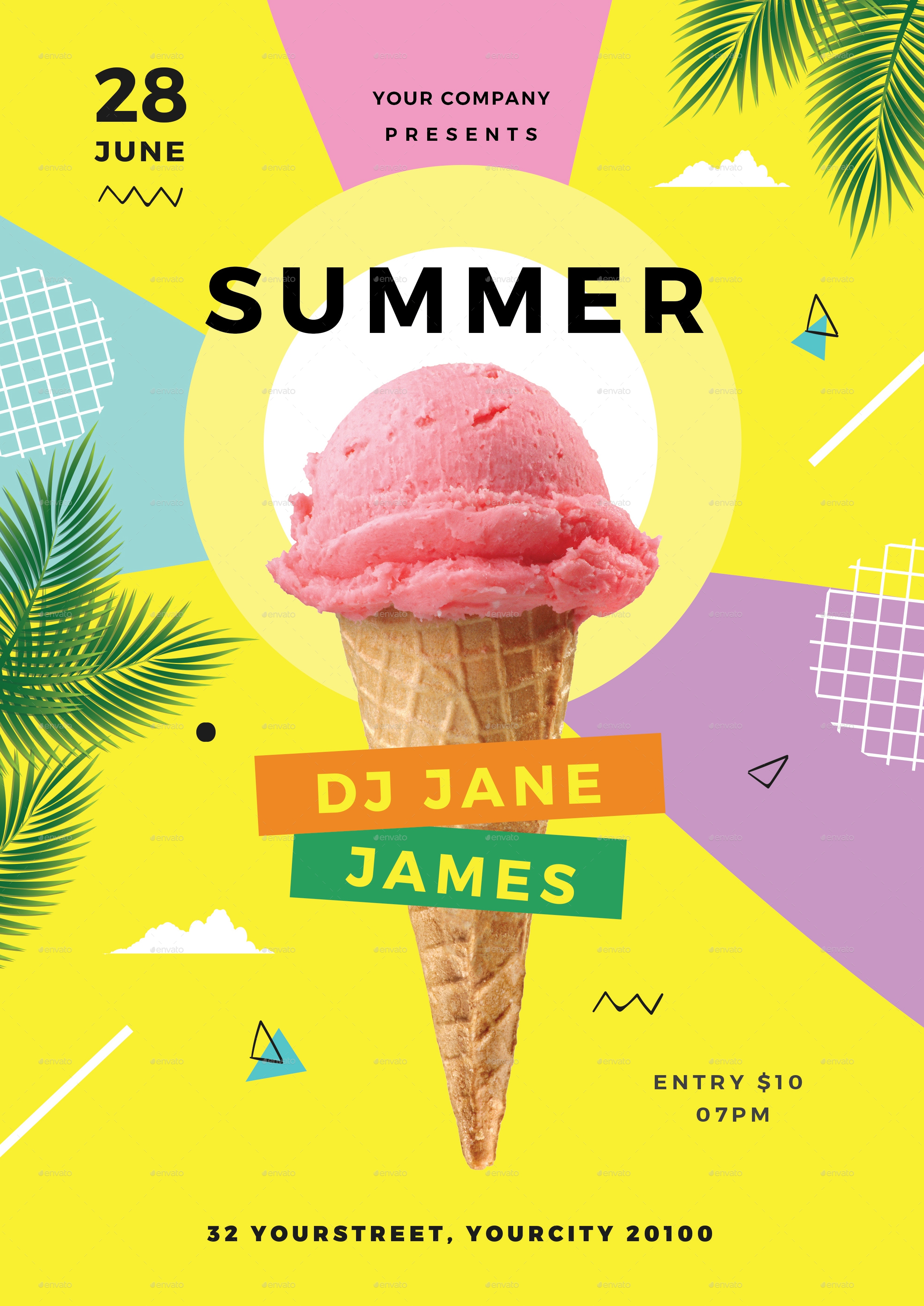 20  summer flyer designs  u0026 examples