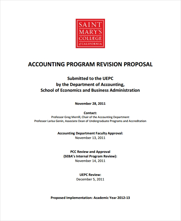12+ Accounting Proposal Examples - Word, PDF, Apple Pages | Examples