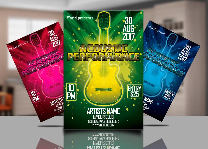 Acoustic Concert Flyer