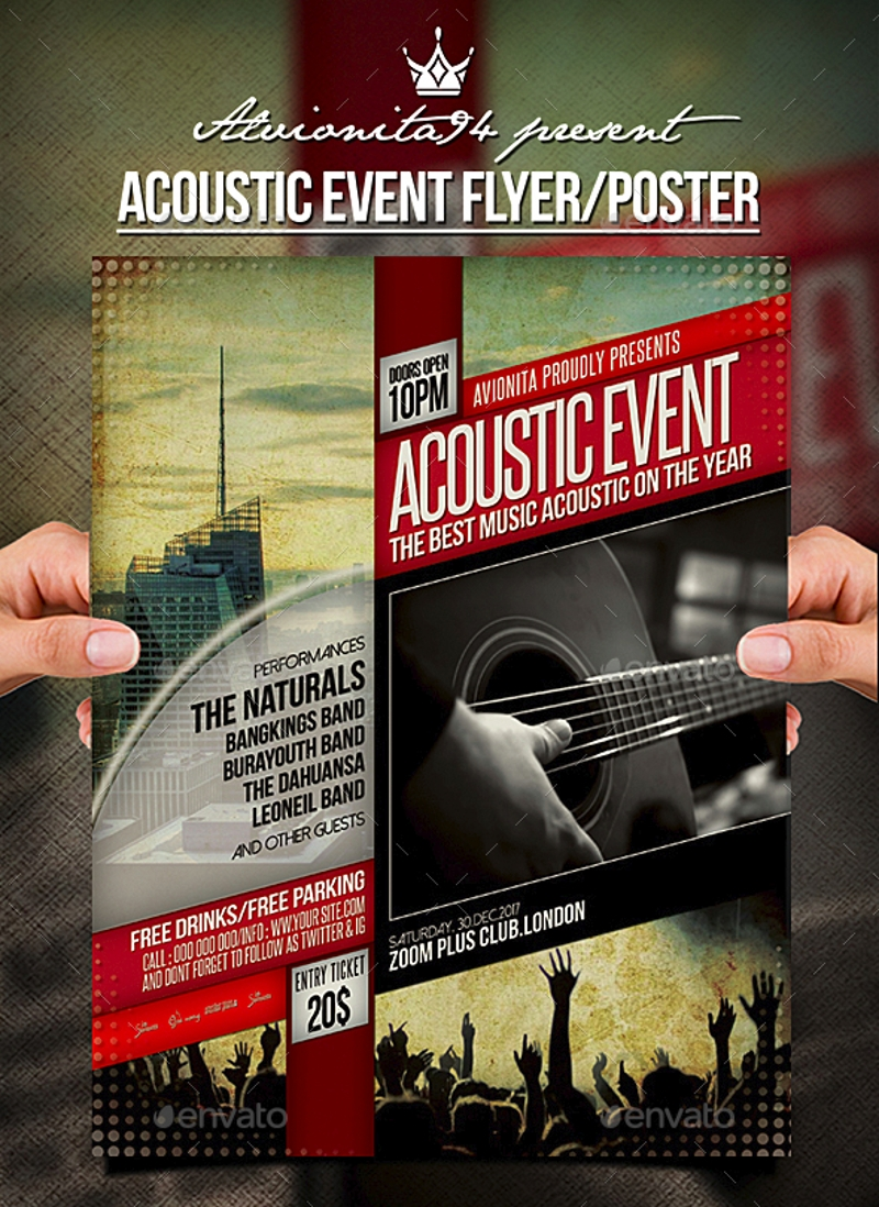 acoustic event flyer