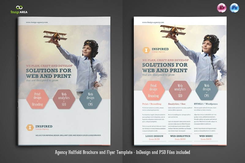 agency brochure marketing flyer