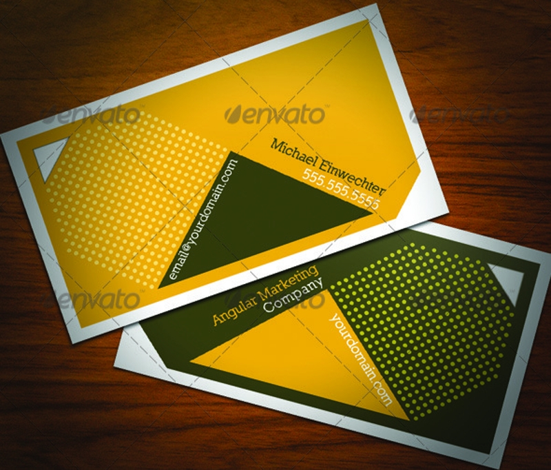 angular marketing business cards