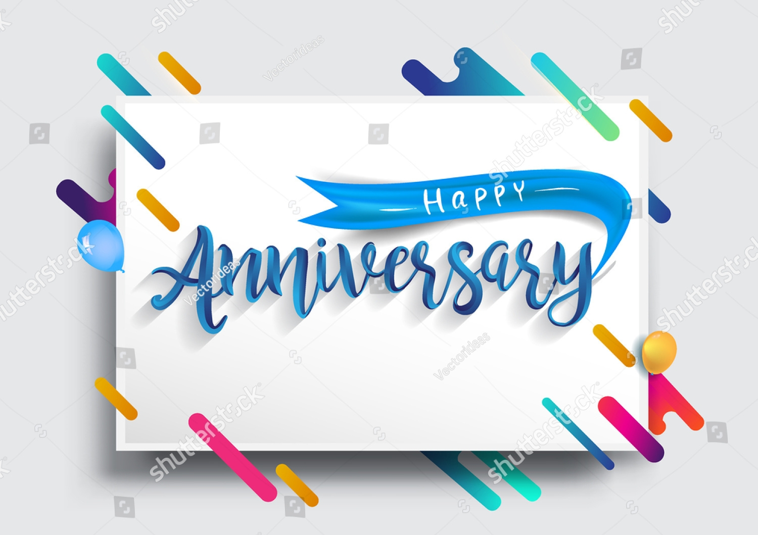 anniversary typography greeting card