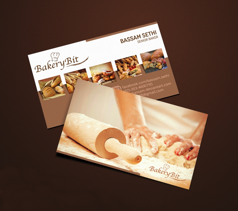 bakery business card sample