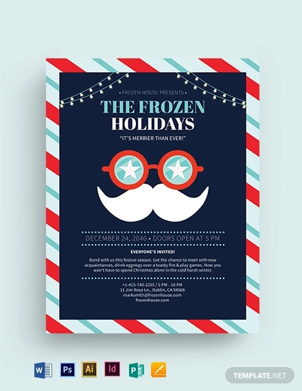 beautiful christmas party flyer template