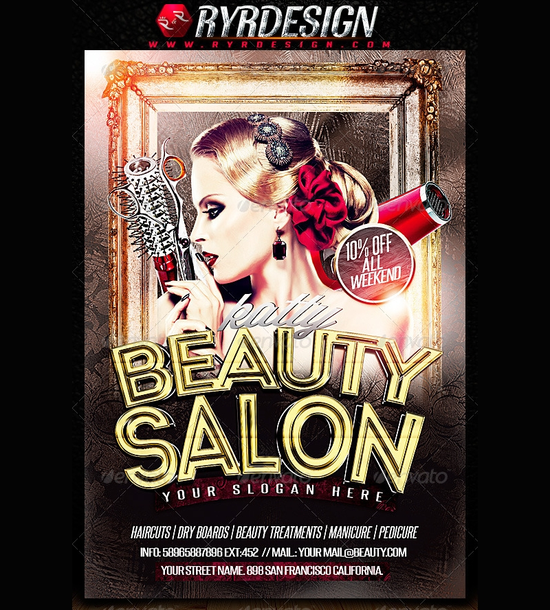 Beauty Salon Flyer PSD