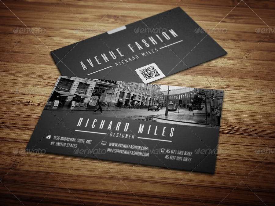 black and white fashion business card