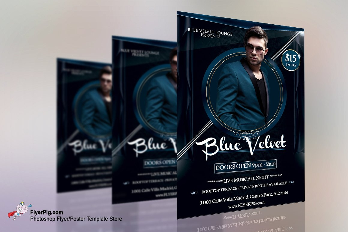 blue velvet club flyer