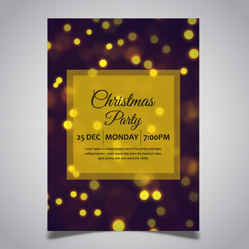 bokeh christmas party flyer