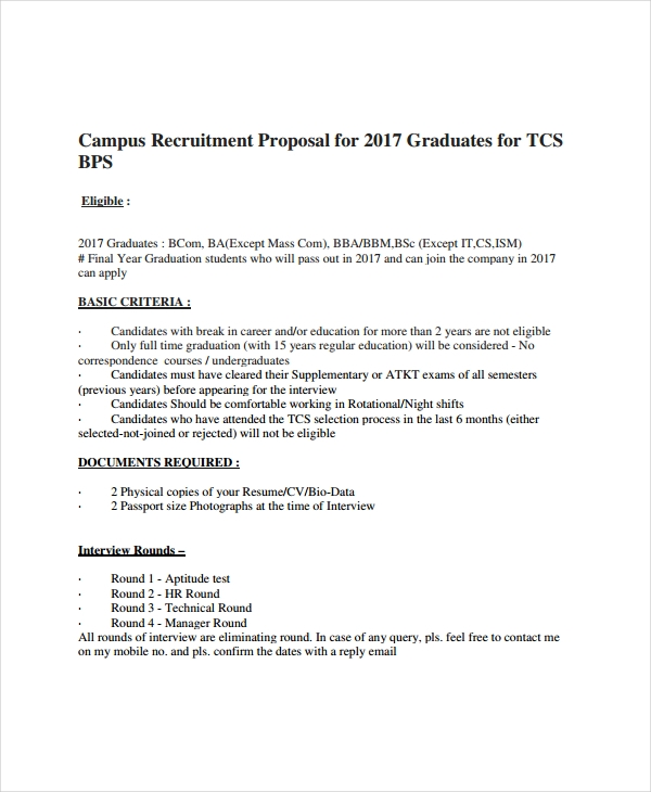 10+ Recruitment Proposal Examples - PDF | Examples